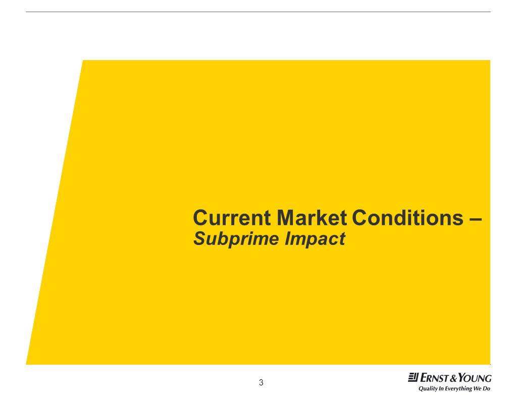 Current Market Conditions – Subprime Impact