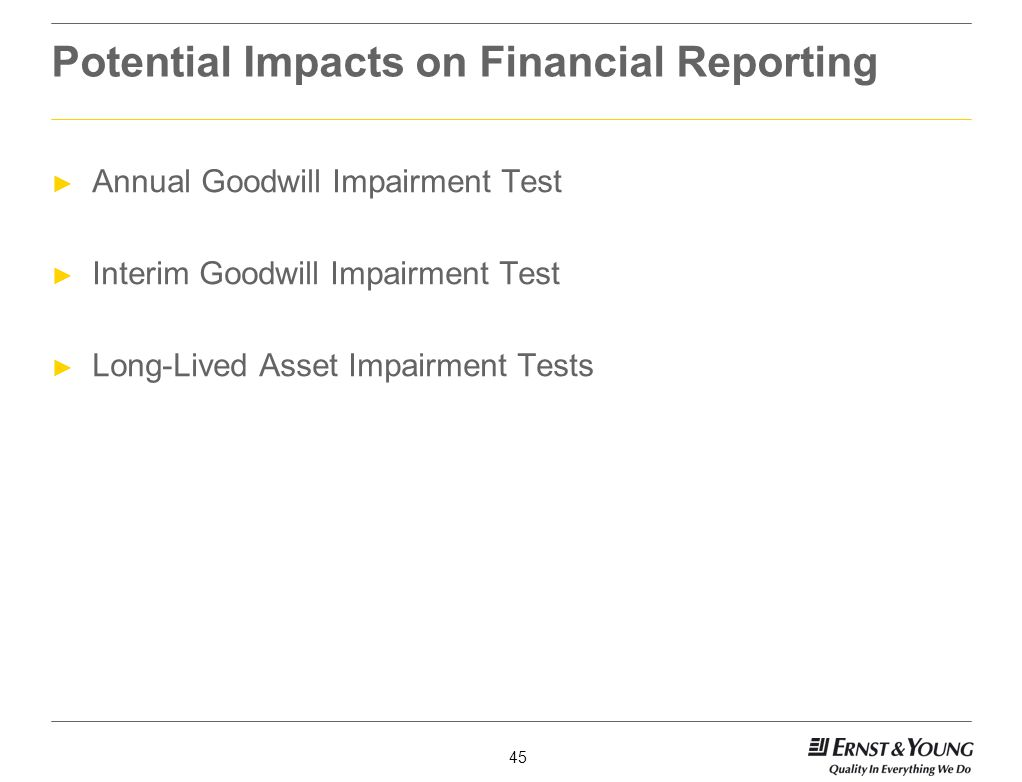 Potential Impacts on Financial Reporting