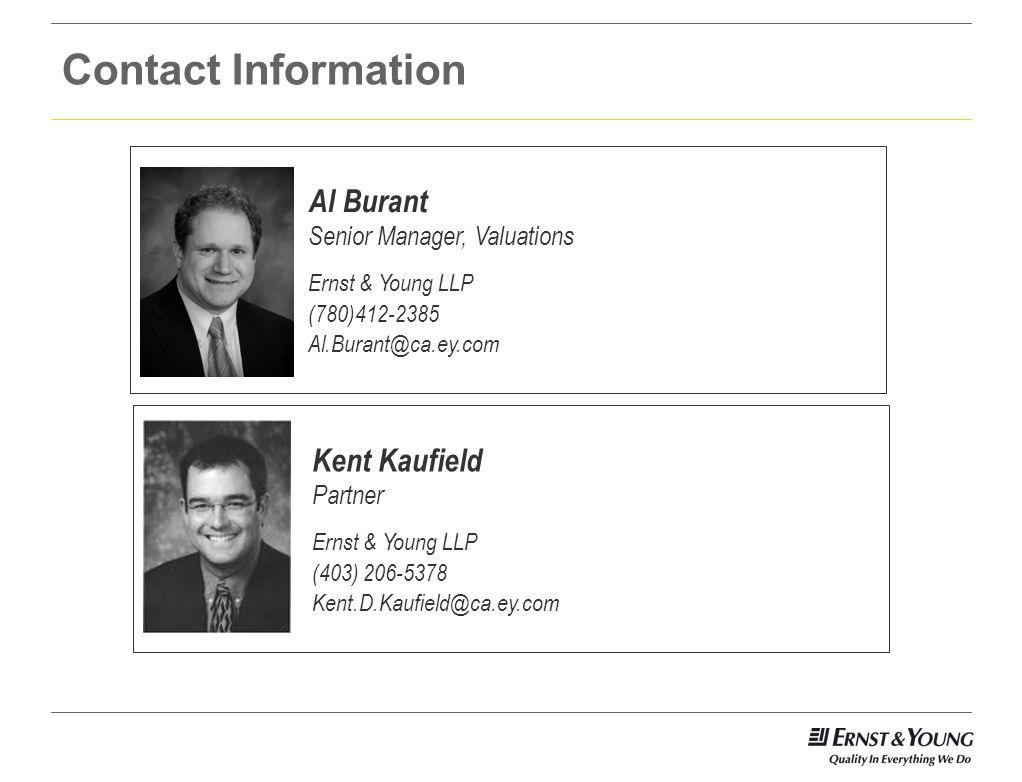 Contact Information Al Burant. Senior Manager, Valuations. Ernst & Young LLP. (780)412-2385. Al.Burant@ca.ey.com.