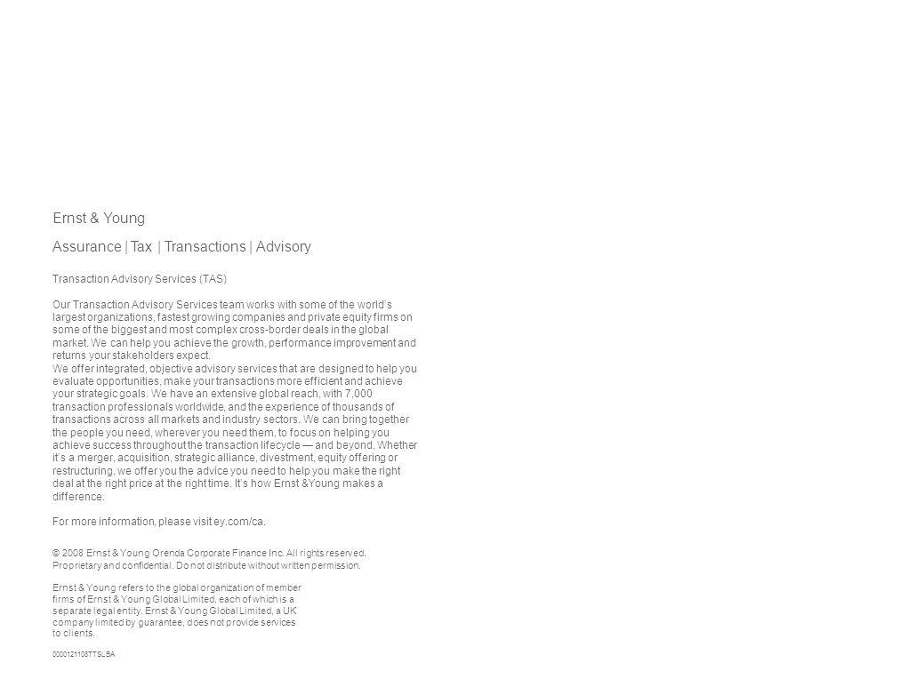 Assurance | Tax | Transactions | Advisory