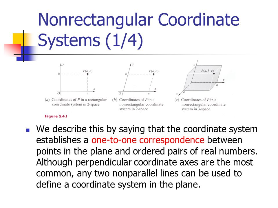 Nonrectangular Coordinate Systems (1/4)
