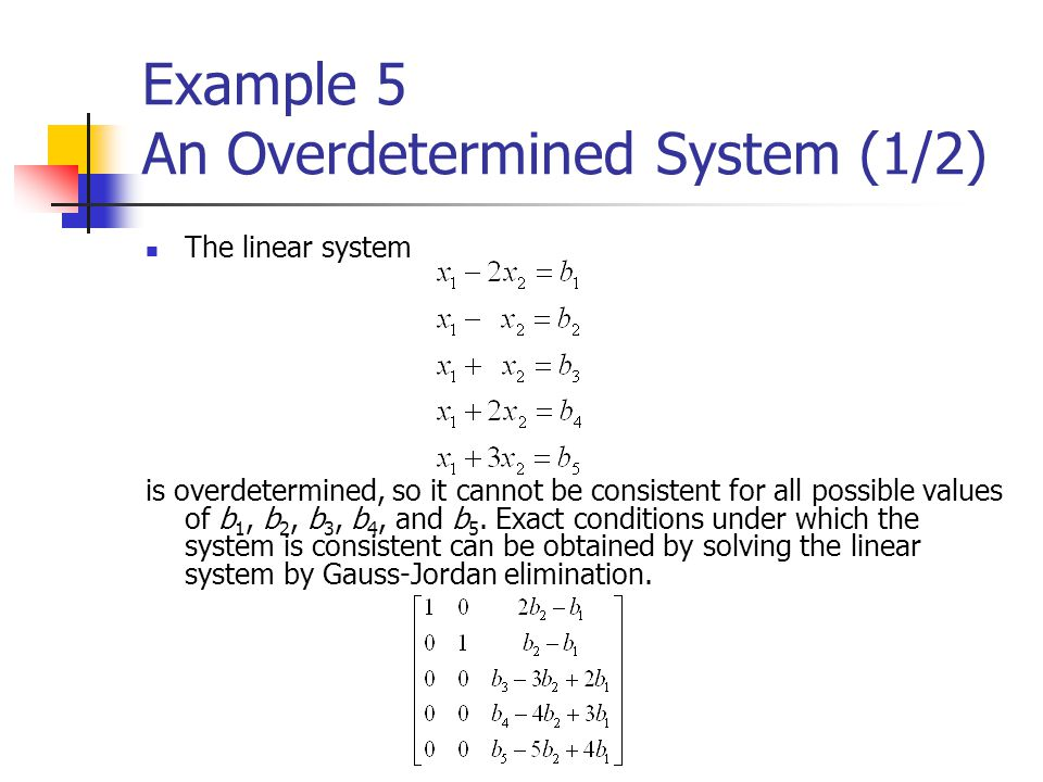 Example 5 An Overdetermined System (1/2)