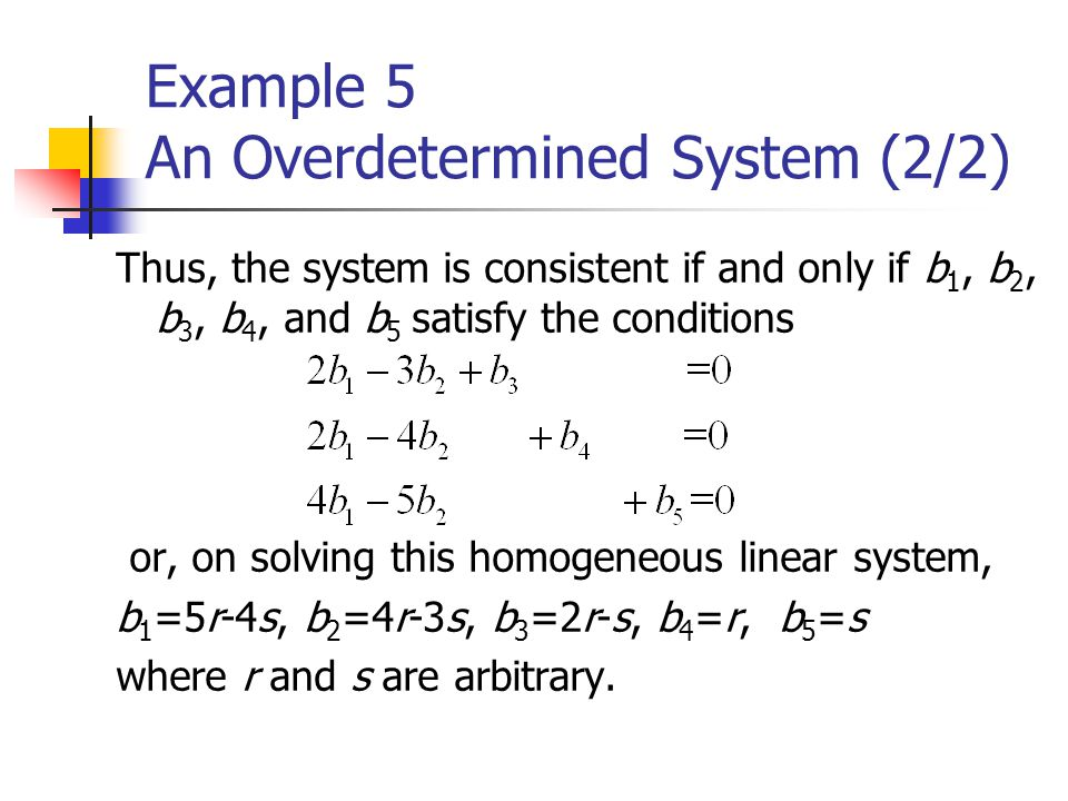 Example 5 An Overdetermined System (2/2)