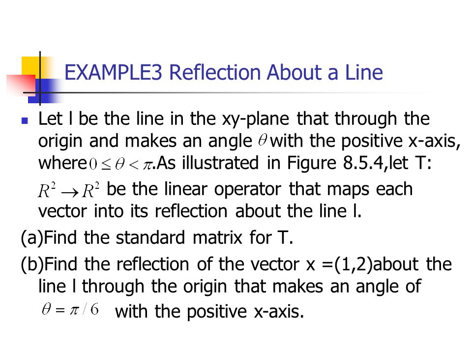 EXAMPLE3 Reflection About a Line