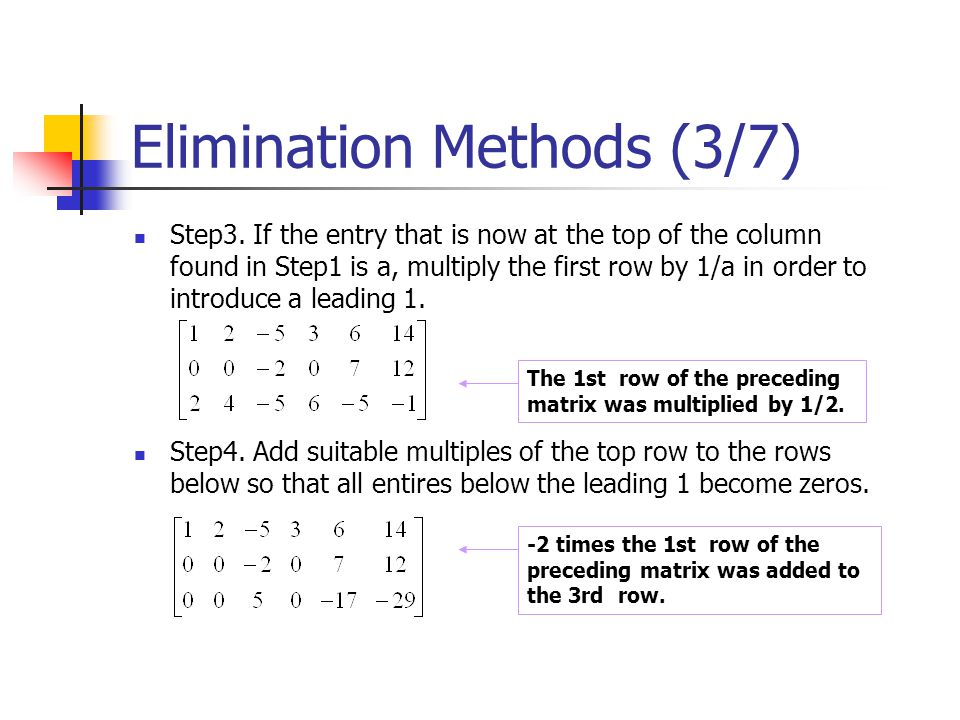 Elimination Methods (3/7)
