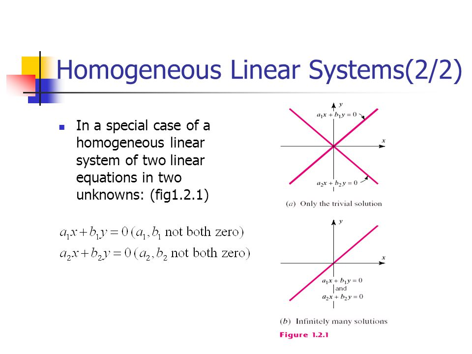 Homogeneous Linear Systems(2/2)
