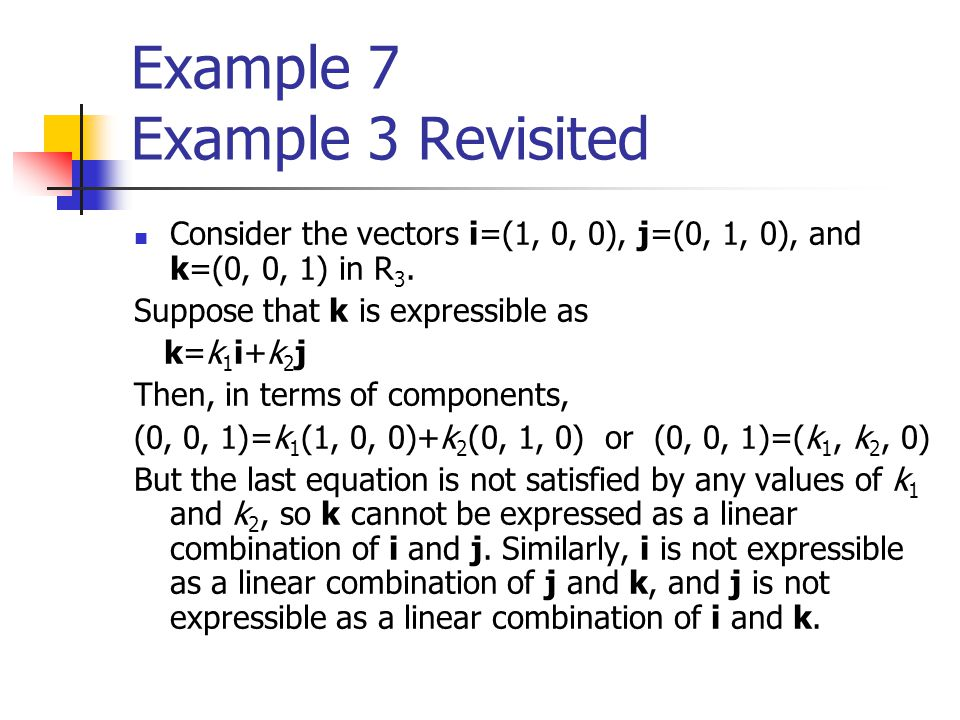Example 7 Example 3 Revisited