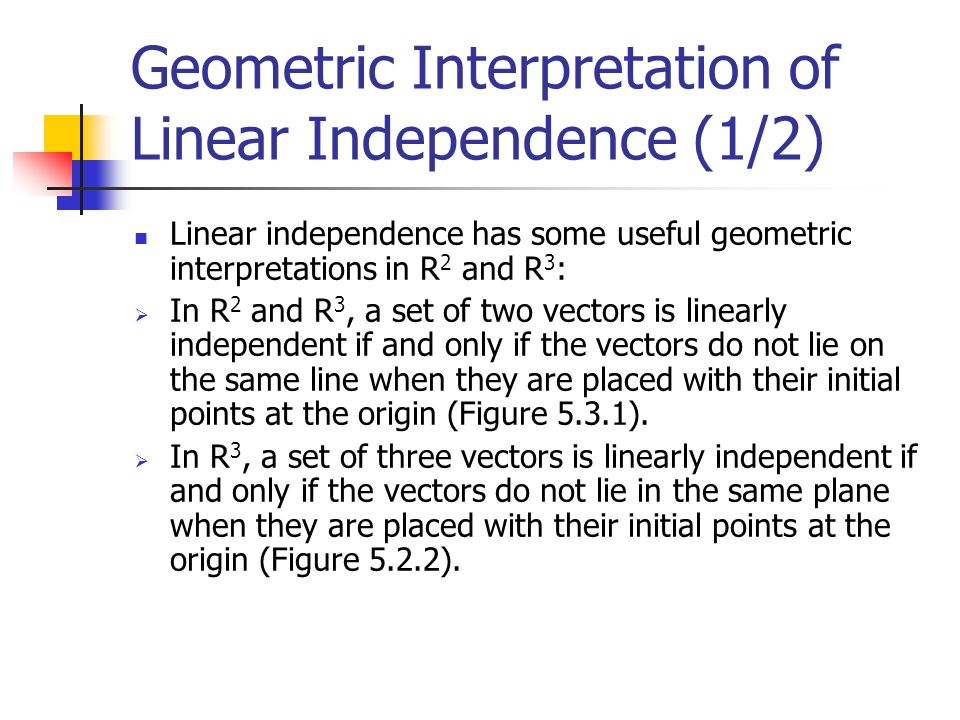 Geometric Interpretation of Linear Independence (1/2)