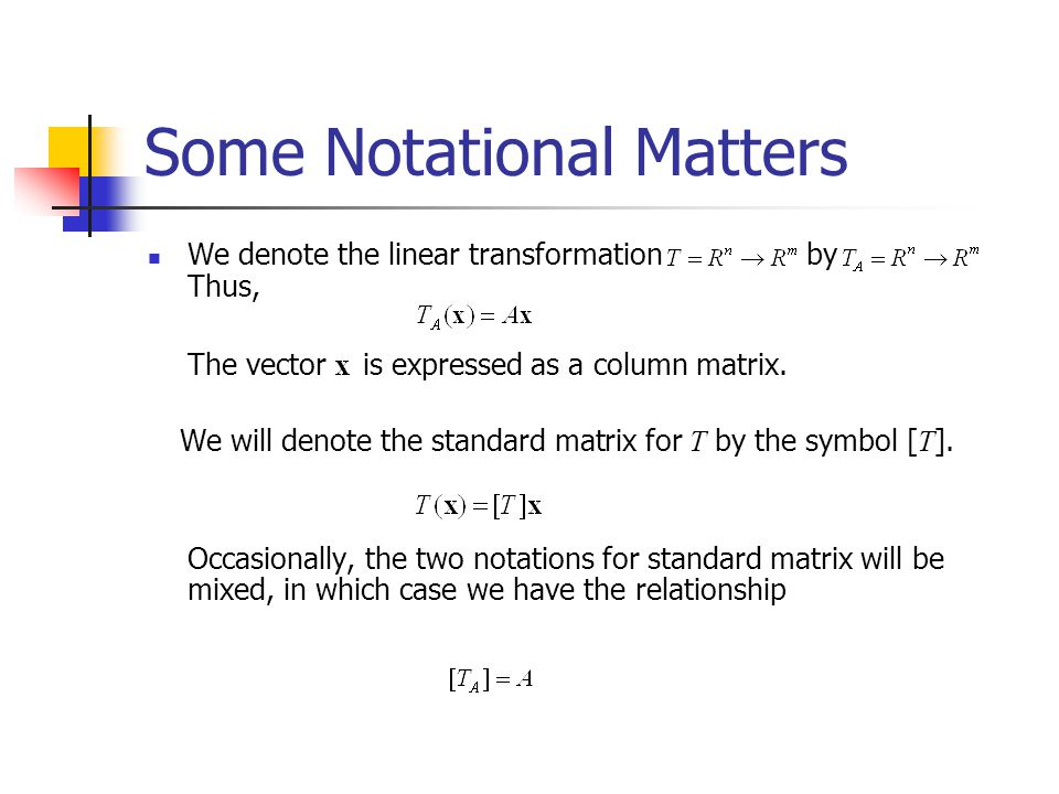 Some Notational Matters
