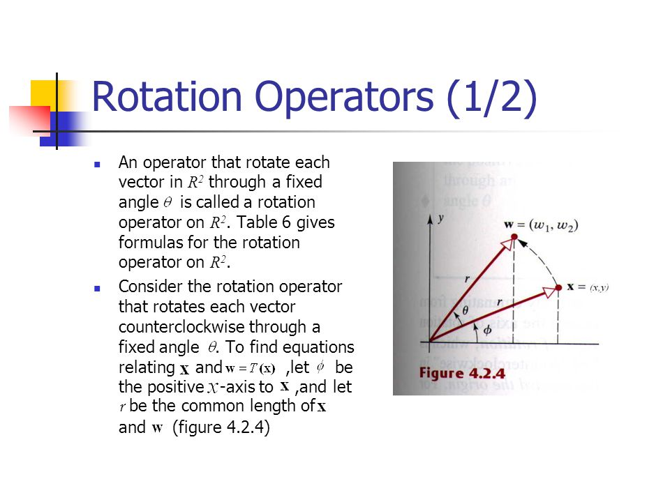 Rotation Operators (1/2)