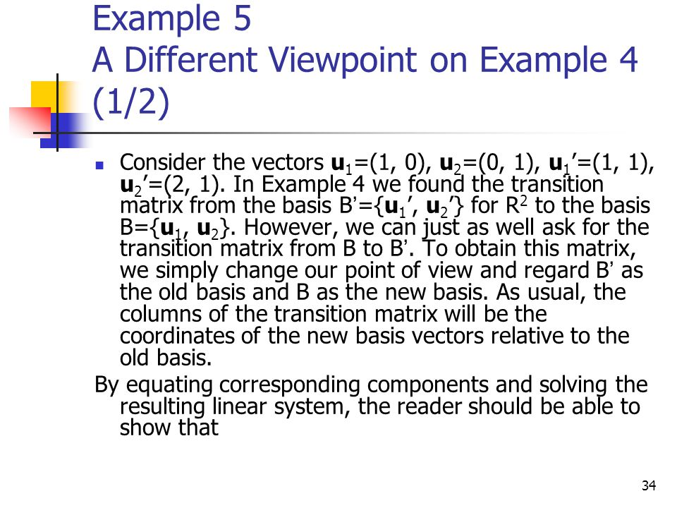 Example 5 A Different Viewpoint on Example 4 (1/2)