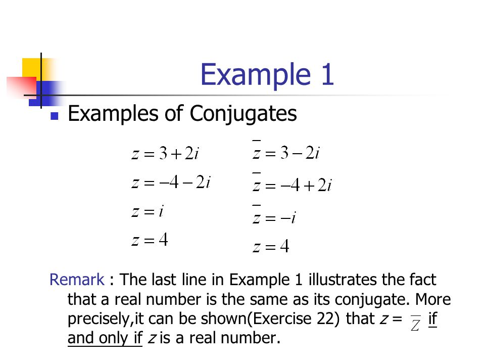 Example 1 Examples of Conjugates