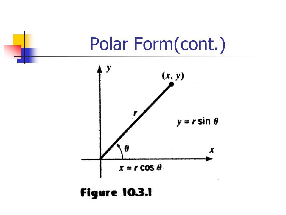 Polar Form(cont.)