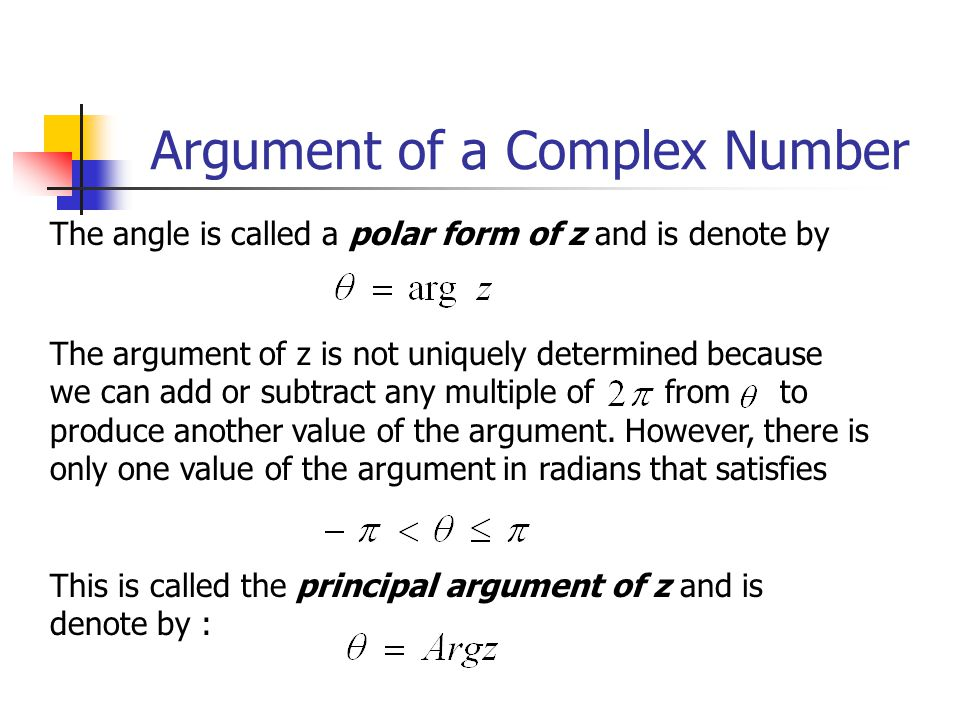 Argument of a Complex Number