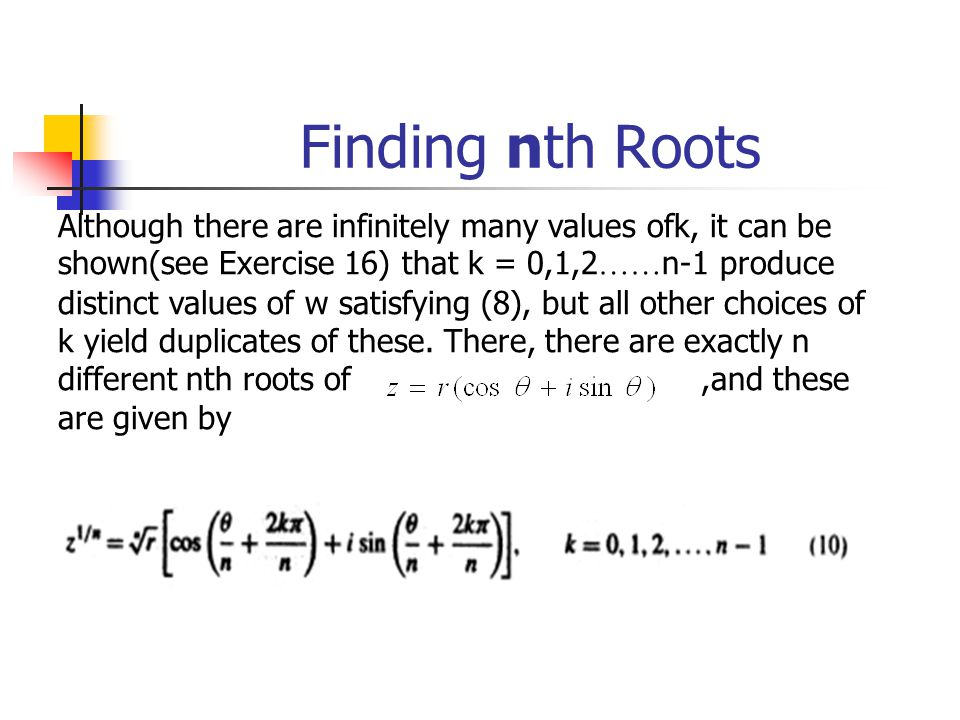 Finding nth Roots