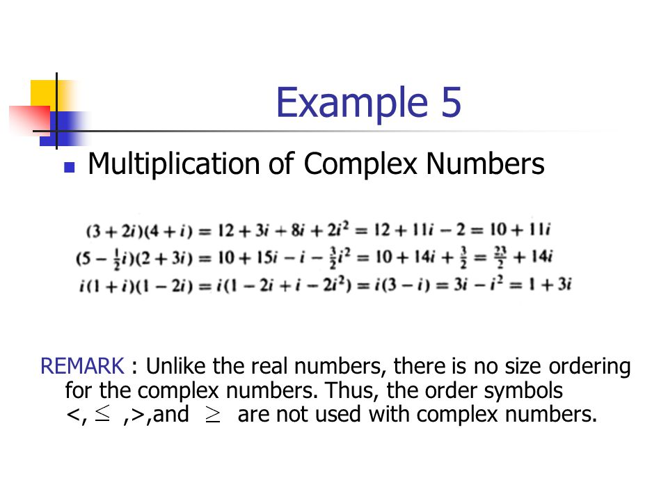 Example 5 Multiplication of Complex Numbers
