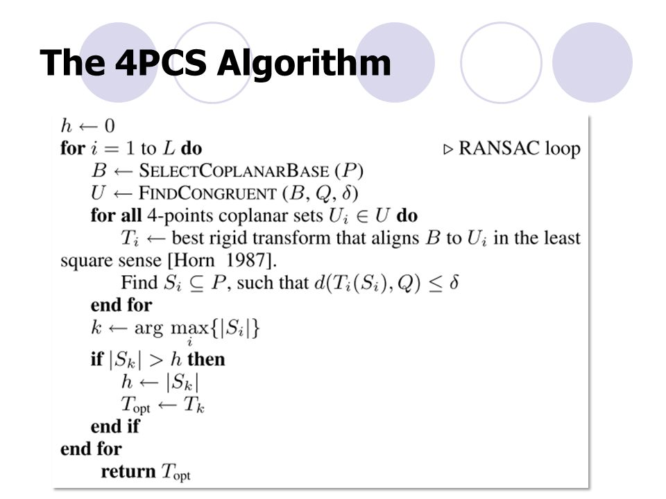 The 4PCS Algorithm