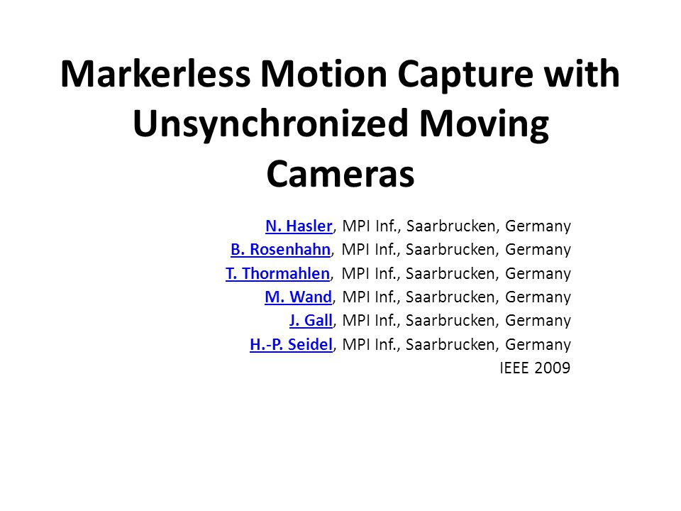 Markerless Motion Capture with Unsynchronized Moving Cameras