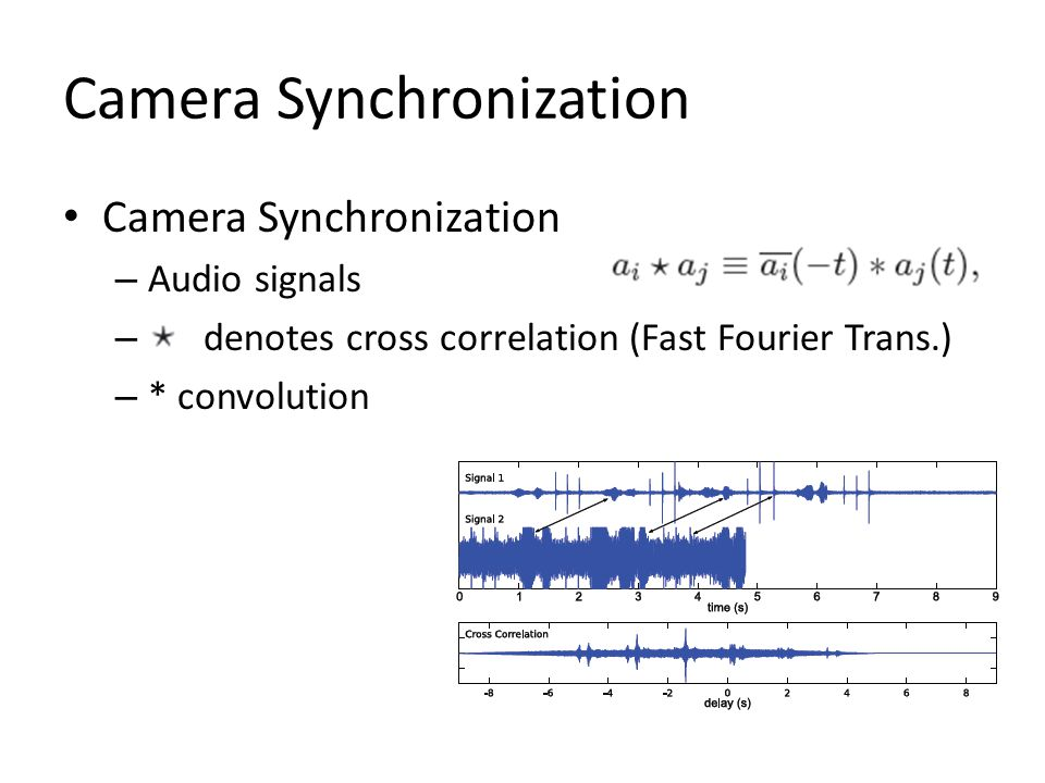 Camera Synchronization