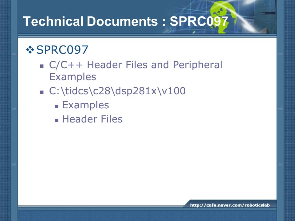 Technical Documents : SPRC097