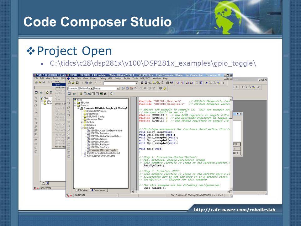 Code Composer Studio Project Open
