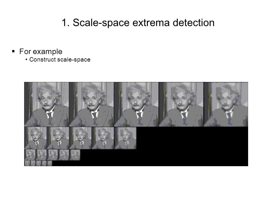 1. Scale-space extrema detection