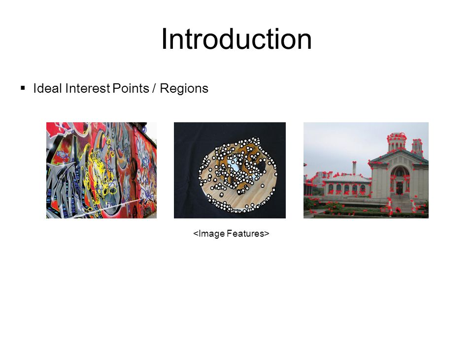 Introduction Ideal Interest Points / Regions <Image Features>
