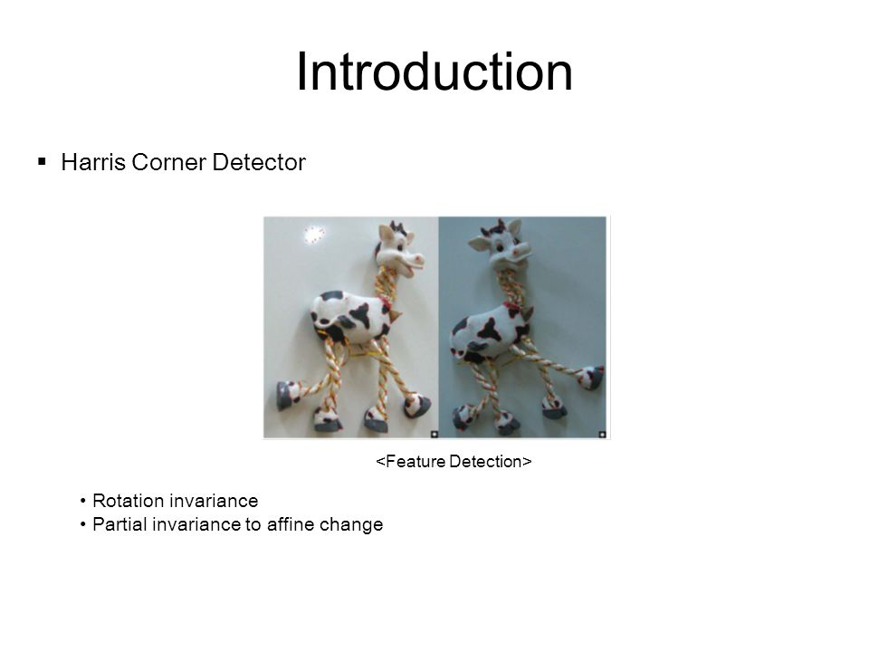 Introduction Harris Corner Detector Rotation invariance