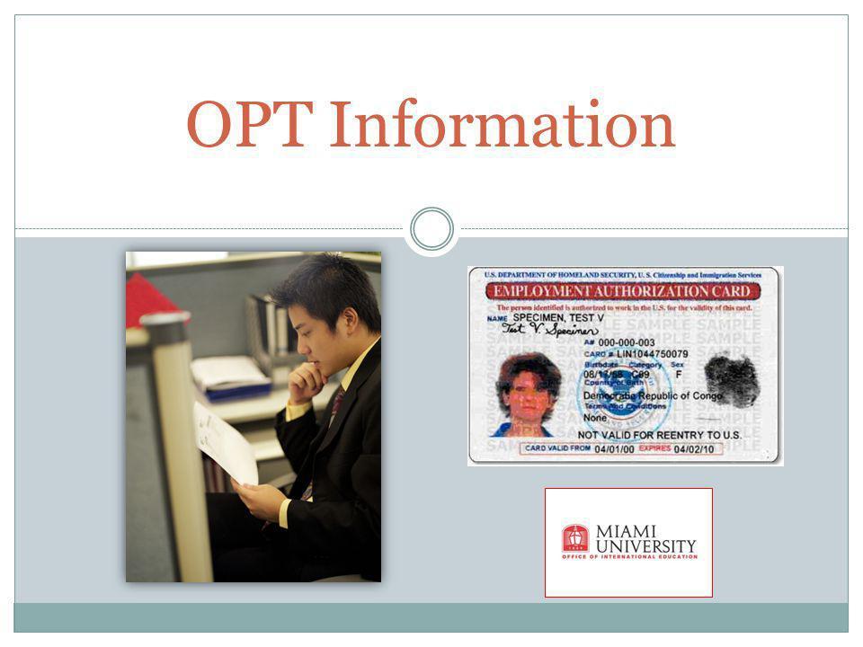 OPT Information