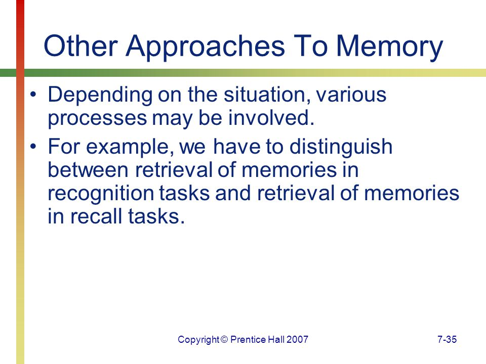 Other Approaches To Memory