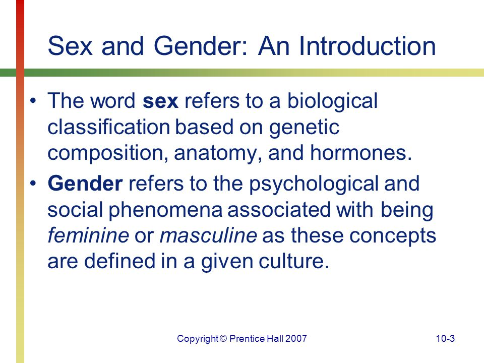 Sex and Gender: An Introduction