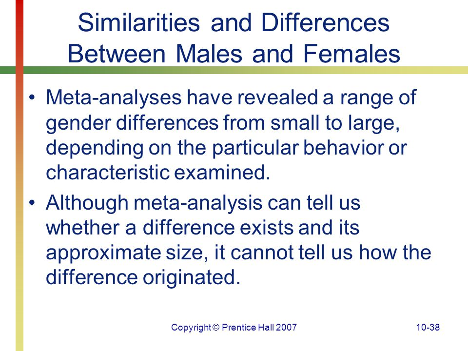 an analysis of gender differences and behaviors in men and women Differences in oral sexual behavior were observed by gender, age-cohort and race most men (854%) and women (832%) had ever performed oral sex, but men had more lifetime oral and vaginal sexual partners and higher oral hpv16 prevalence than women (each p0001) 60–69 year olds (yo) were less.
