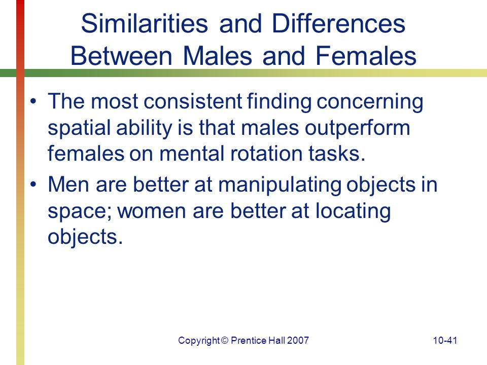 the similarities and differences between the men and women in the world Free gender differences - gender differences in today's world, women are taking a more that the differences between men and women.