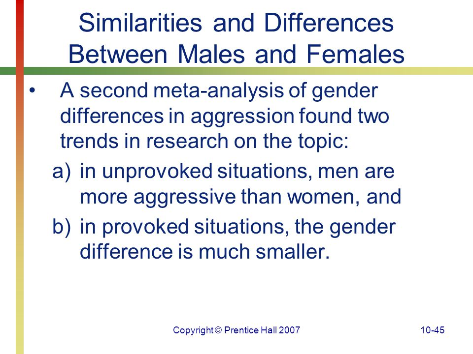 Similarities and Differences Between Males and Females