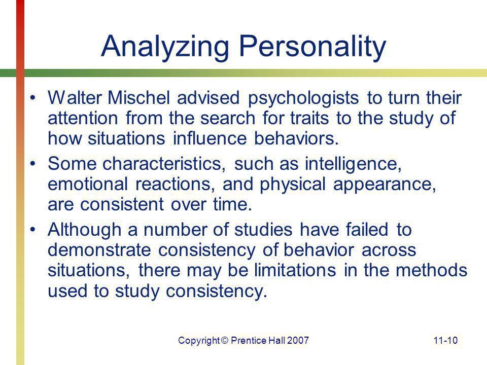 Analyzing Personality