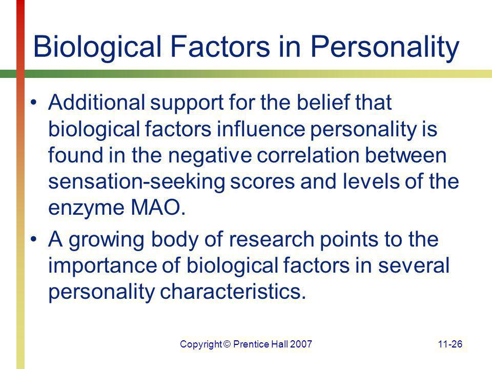 Biological Factors in Personality