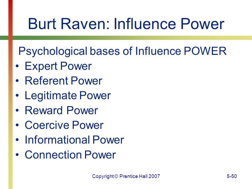 Burt Raven: Influence Power