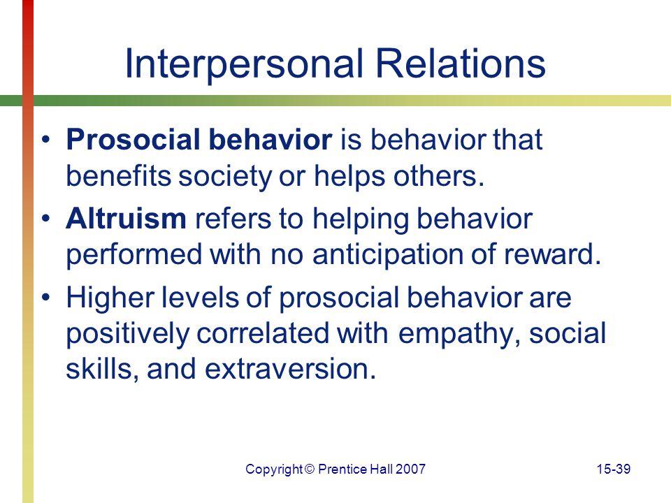 Interpersonal Relations