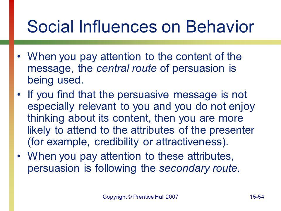 Social Influences on Behavior