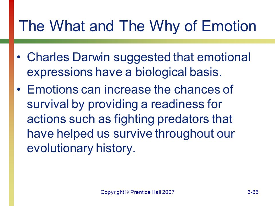 The What and The Why of Emotion