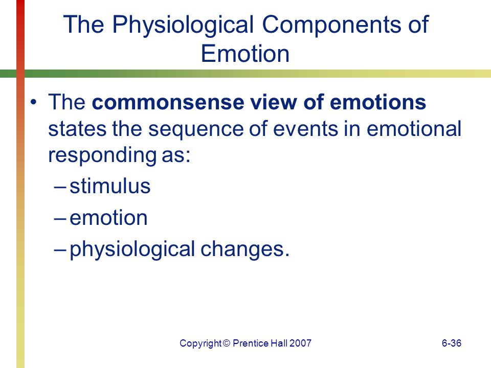 The Physiological Components of Emotion