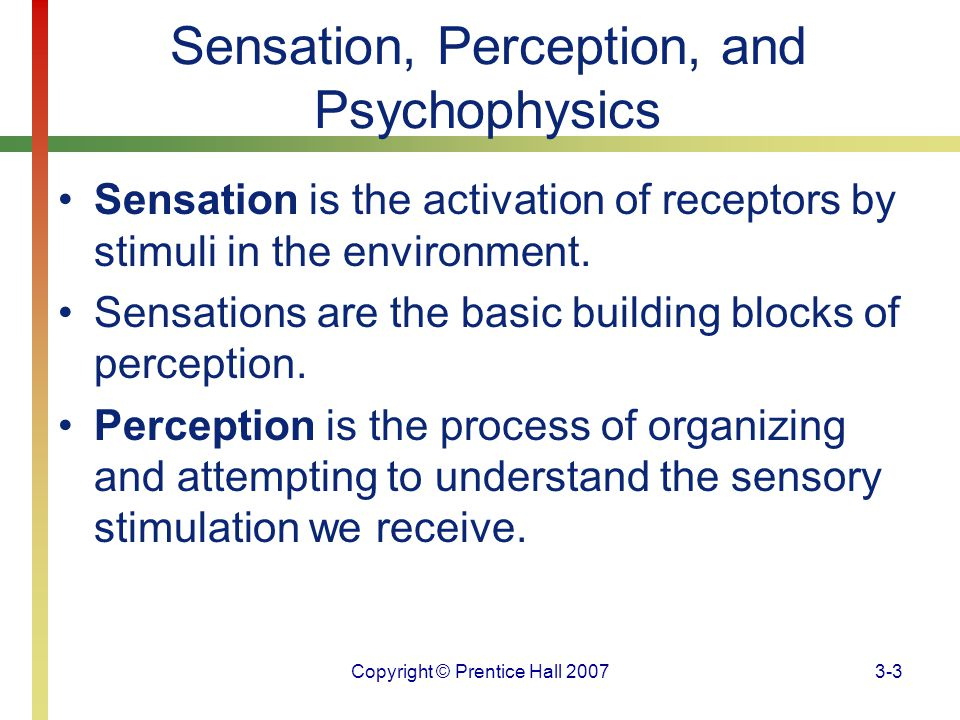 Sensation, Perception, and Psychophysics