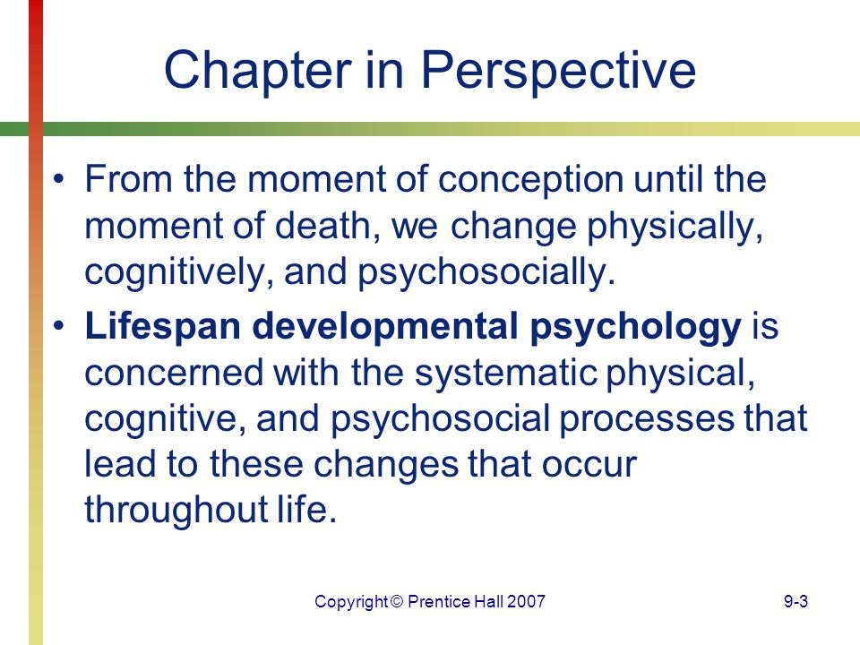 Chapter in Perspective