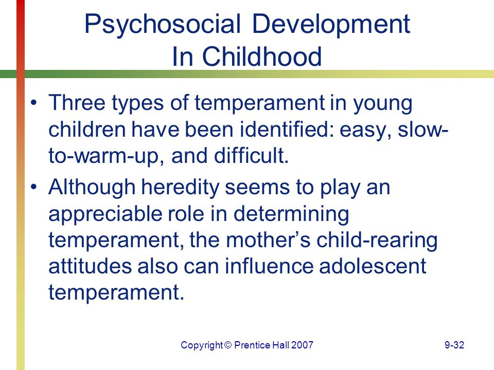Psychosocial Development In Childhood