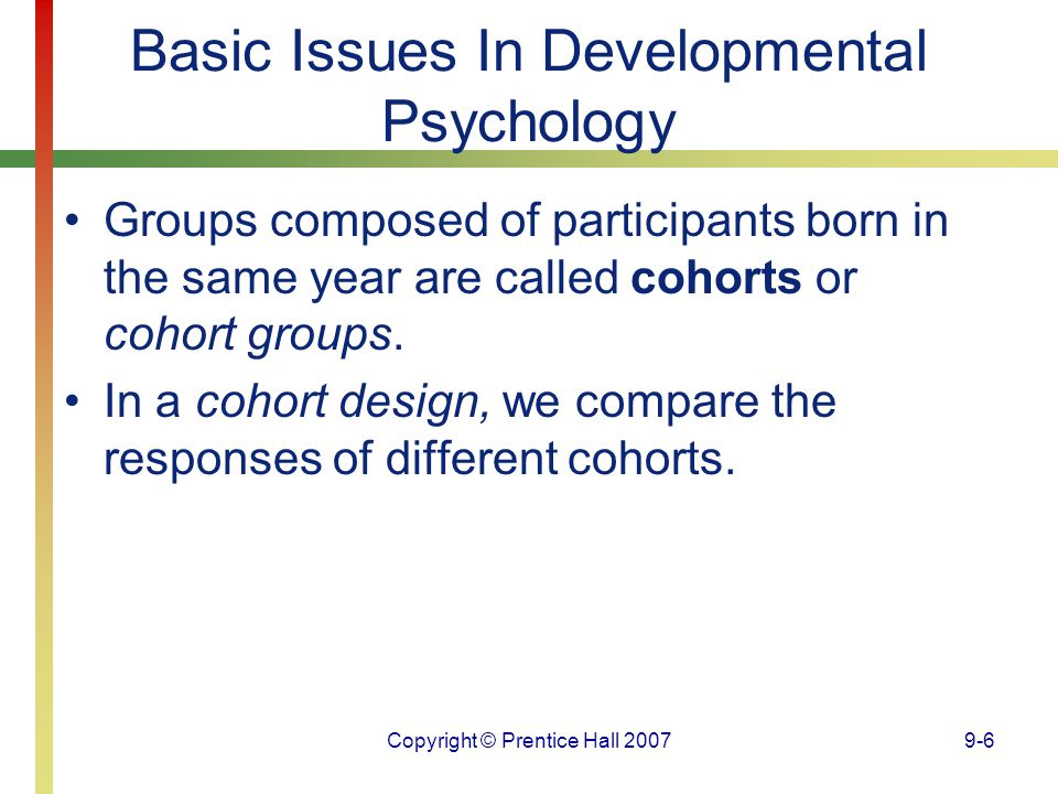Basic Issues In Developmental Psychology