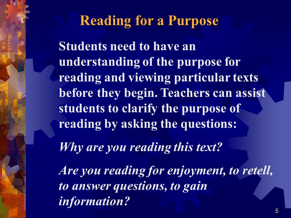 Reading for a Purpose