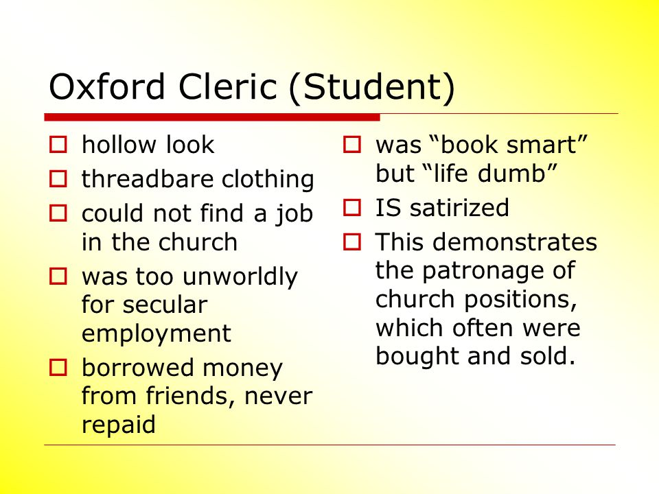 Oxford Cleric (Student)