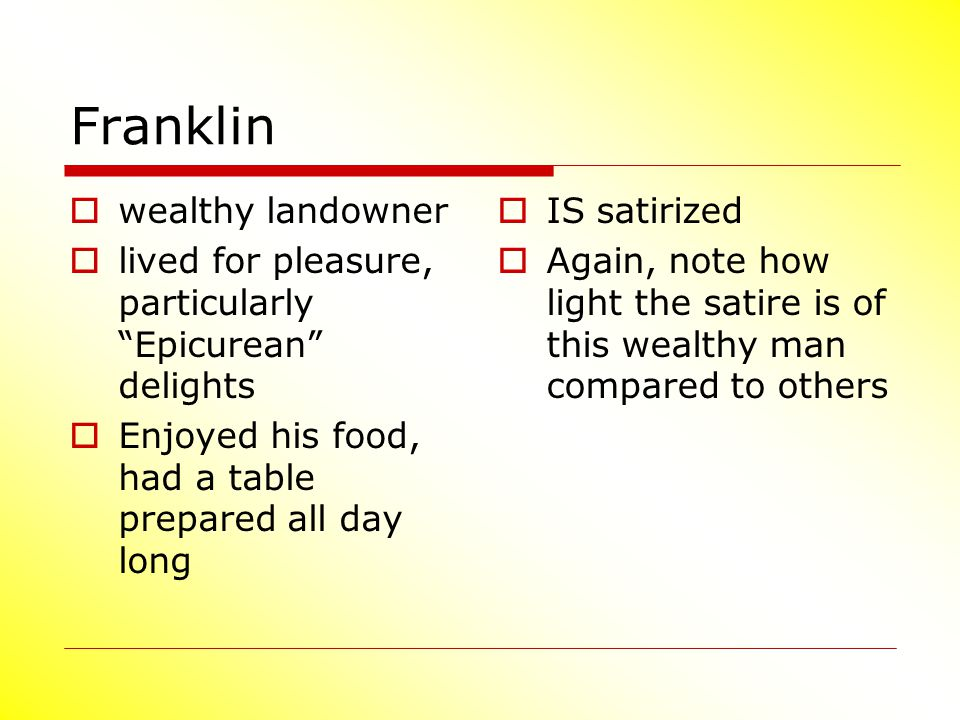 Franklin wealthy landowner