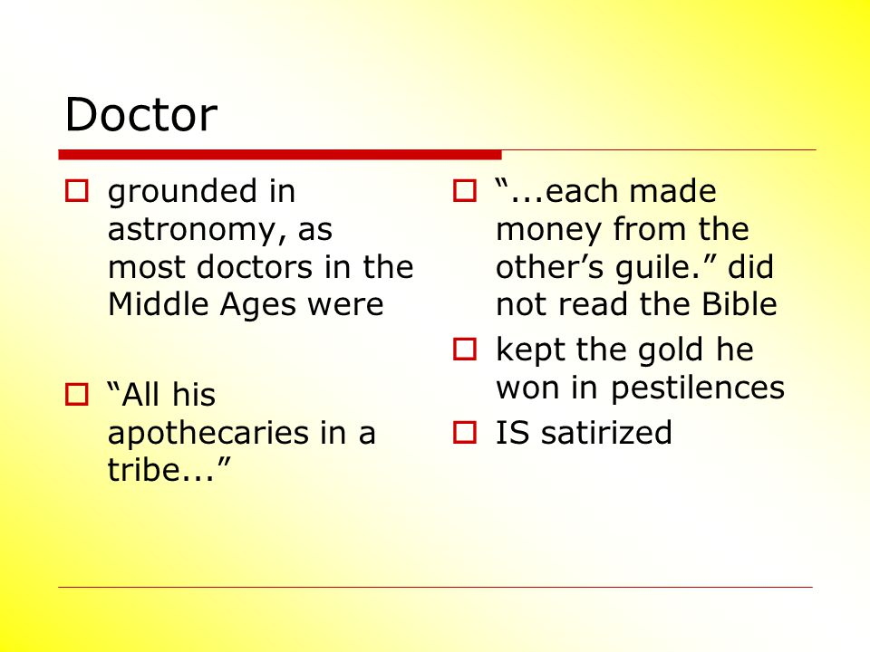 Doctor grounded in astronomy, as most doctors in the Middle Ages were