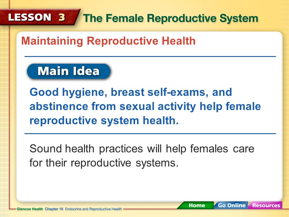 Maintaining Reproductive Health